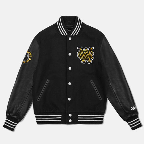 WORLD WIDE WEALTH CLUB VARSITY JACKET (BLACK) - 1