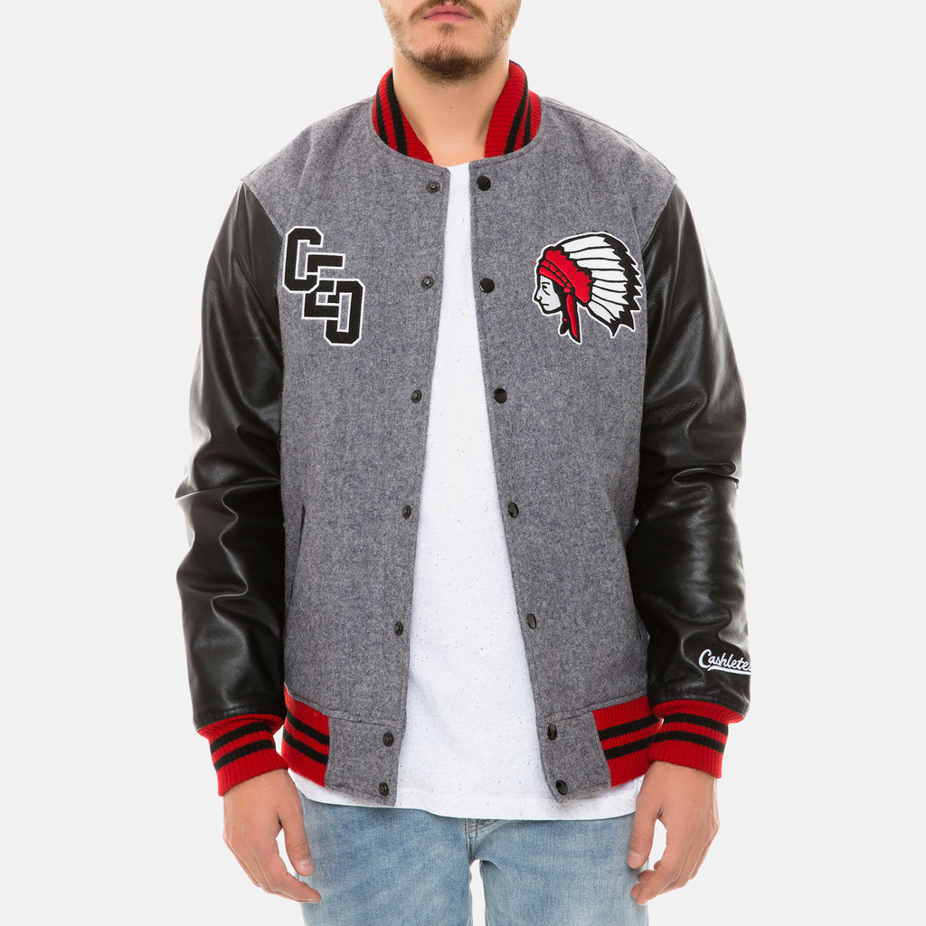CHIEF VARSITY JACKET (GRAY/BLACK) - 2