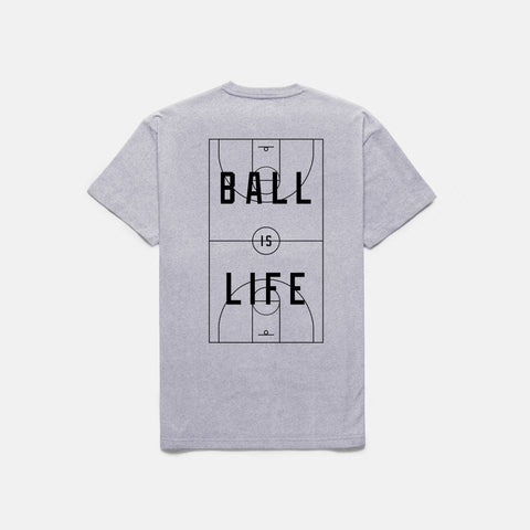 BALL IS LIFE T-SHIRT (HEATHER) - 1
