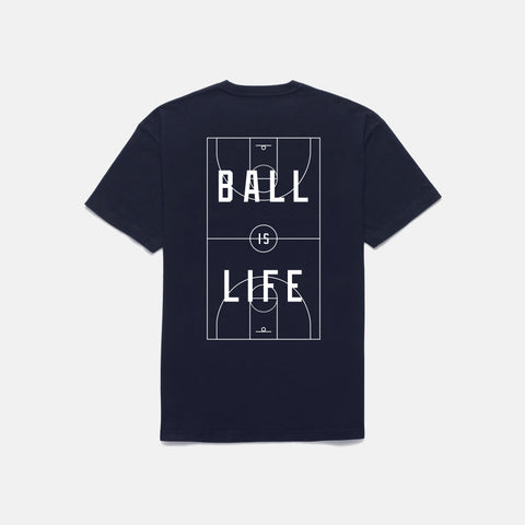 BALL IS LIFE T-SHIRT (NAVY)