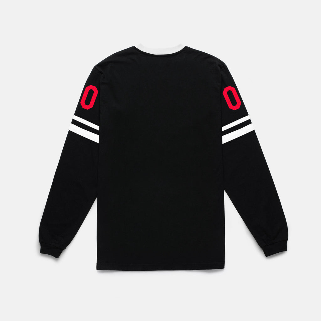 BOLT L/S JERSEY (BLACK/RED) - 2
