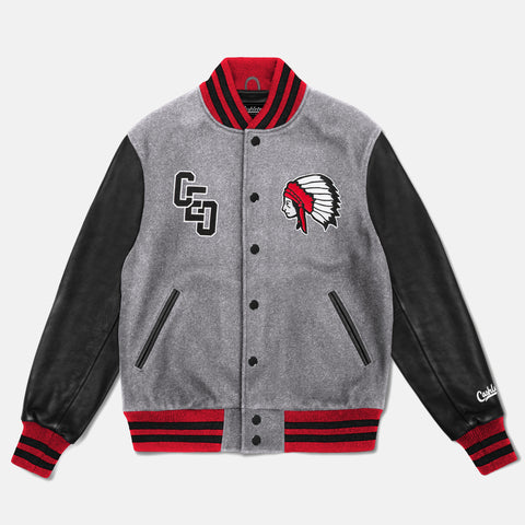 CHIEF VARSITY JACKET (GRAY/BLACK) - 1