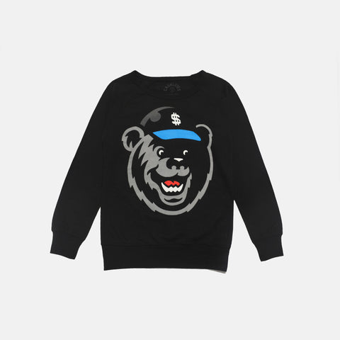FETTY BEAR CREWNECK WOMEN'S (BLACK)