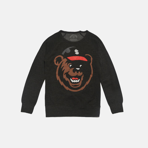 FETTY BEAR CREWNECK WOMEN'S (CHARCOAL HEATHER)