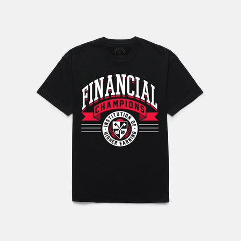 FINANCIAL CHAMPS T-SHIRT (BLACK) - 1
