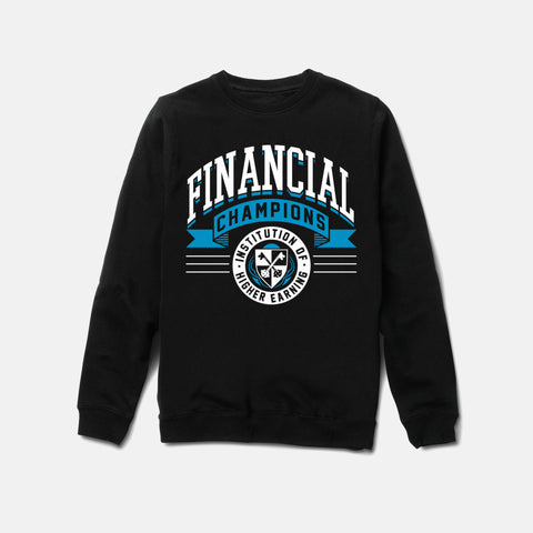 FINANCIAL CHAMPS CREWNECK (BLACK) - 1