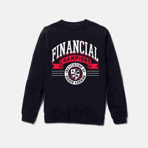 FINANCIAL CHAMPS CREWNECK (NAVY) - 1