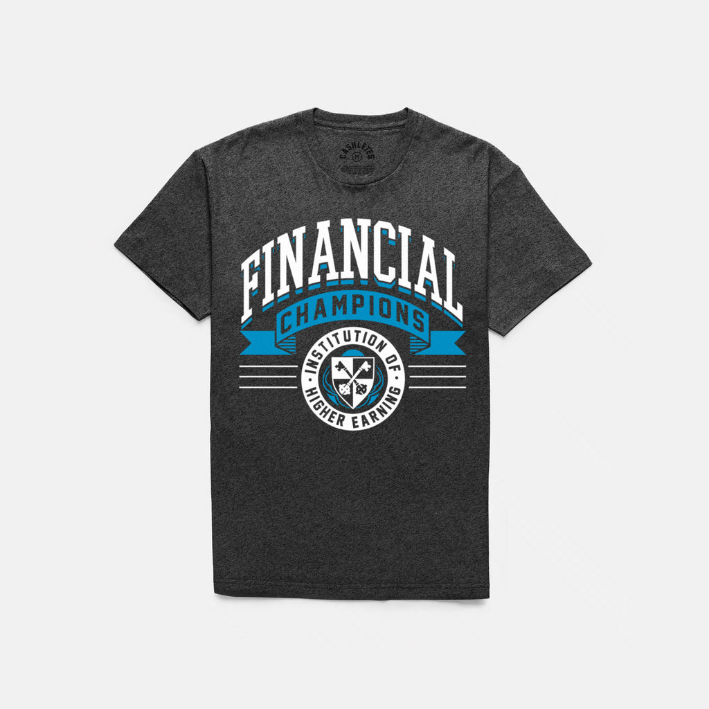 FINANCIAL CHAMPS T-SHIRT (CHARCOAL HEATHER) - 1