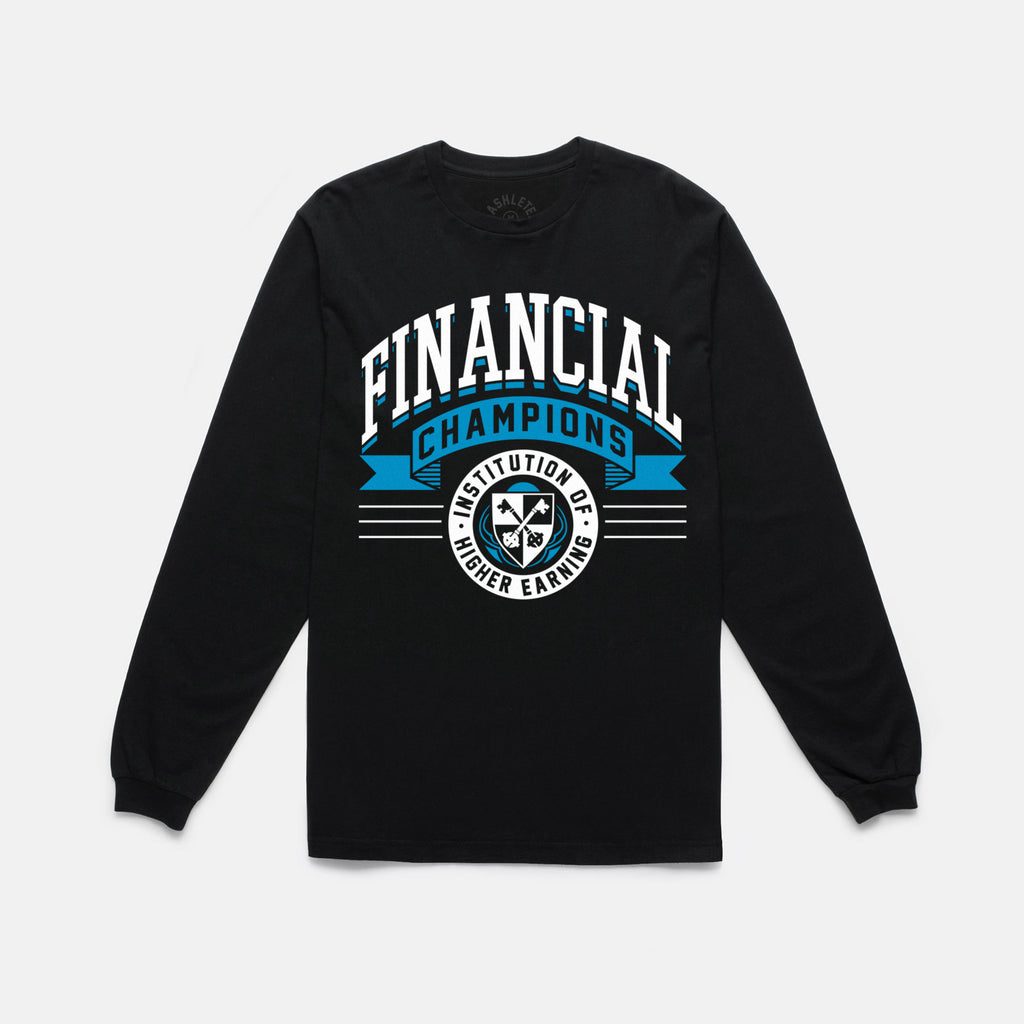 FINANCIAL CHAMPS L/S TEE (BLACK) - 1