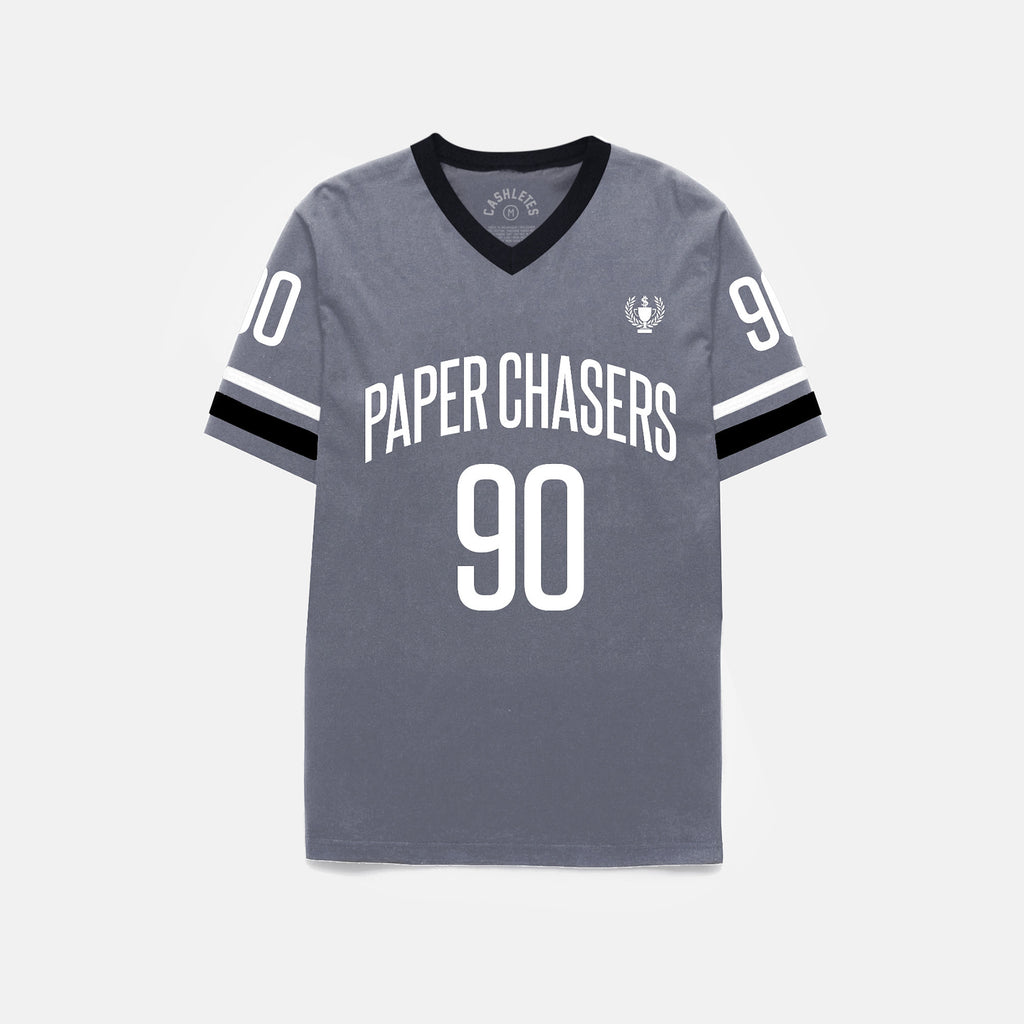 PAPER CHASERS S/S JERSEY (GRAY)