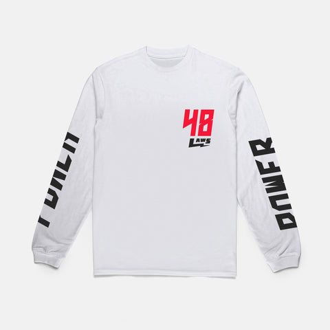 48 LAWS L/S TEE (WHITE)