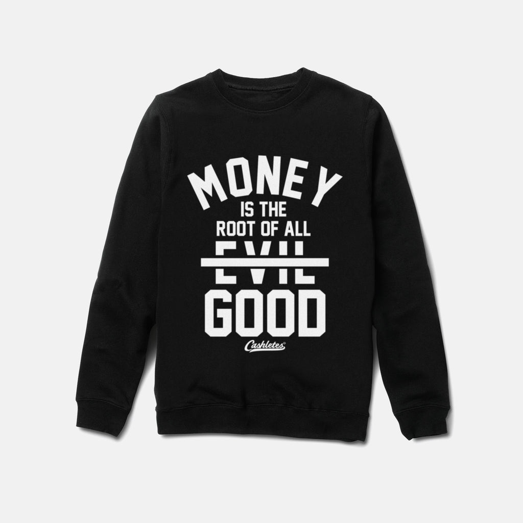 ROOT OF GOOD CREWNECK (BLACK) - 1