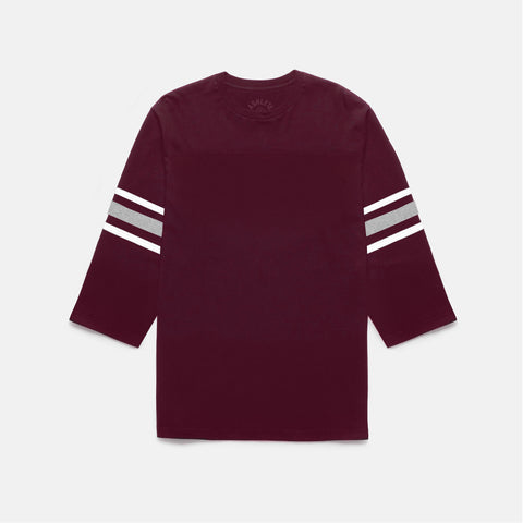 GRIDIRON FOOTBALL TEE (BURGUNDY)