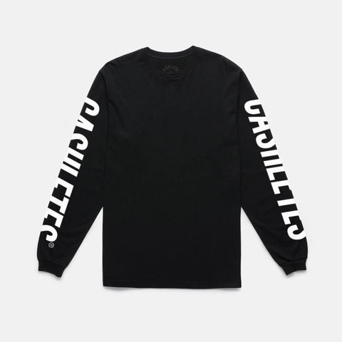 WINNER DUBS L/S TEE (BLACK/WHITE)