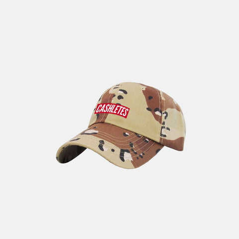 WINNER BOX LOGO DAD HAT (SAND CAMO)
