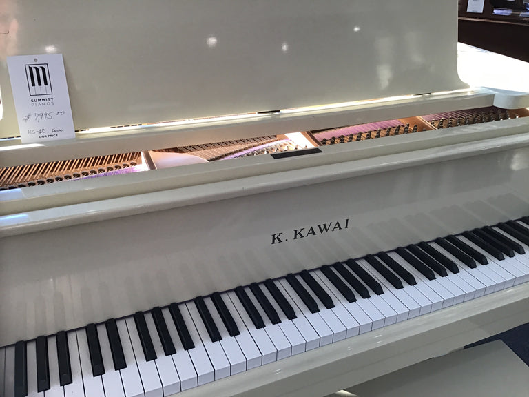 Kawai KG-1C Used Baby Grand in Polished Ivory