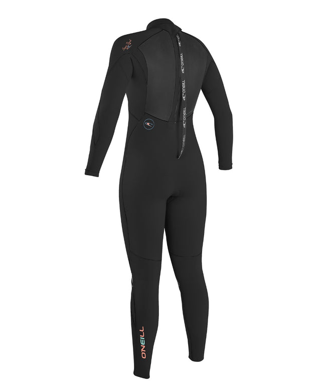 Womens Superfreak Back Zip 4/3mm Steamer Wetsuit - Black