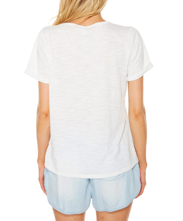 Pacific SS Tee - White Out