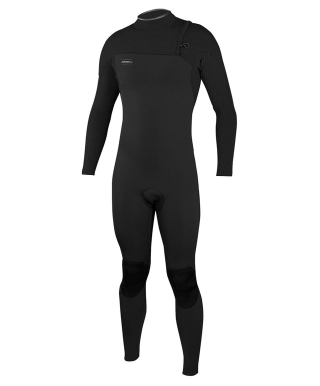 Hyperfreak Zipperless Long Sleeve Comp 3/2mm Steamer Wetsuit - Black