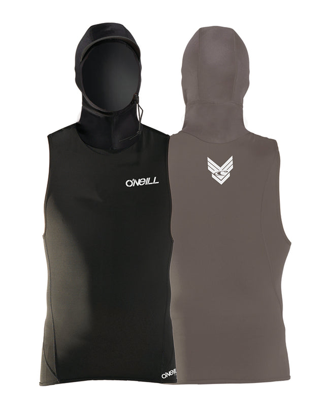 Thermo Neo-Hooded Sleeveless Rash Vest - Black