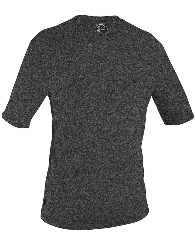 24-7 Hybrid Short Sleeve Surf Rashie Tee - Black