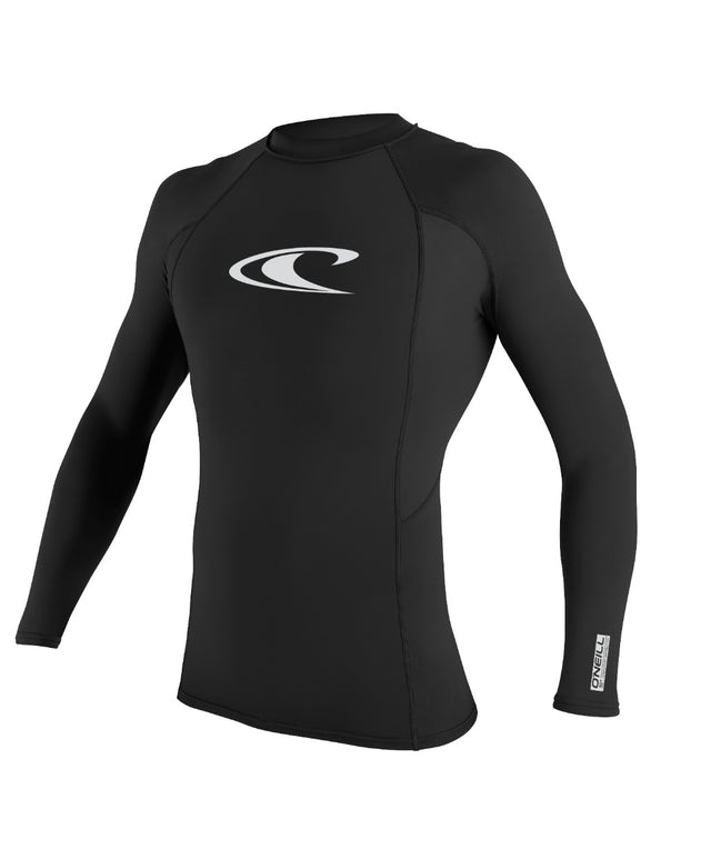 Basic Skins Long Sleeve Rash Vest - Black