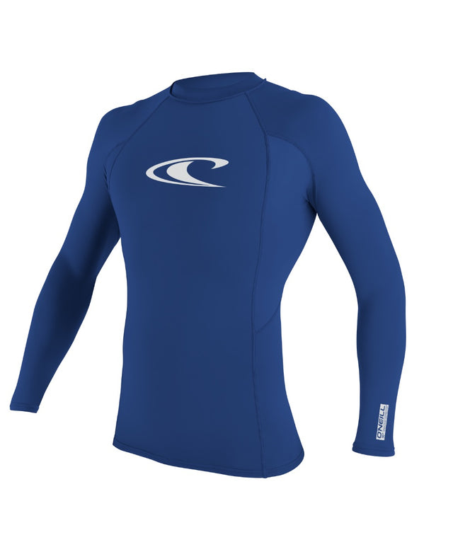 Basic Skins Long Sleeve Rash Vest - Pacific