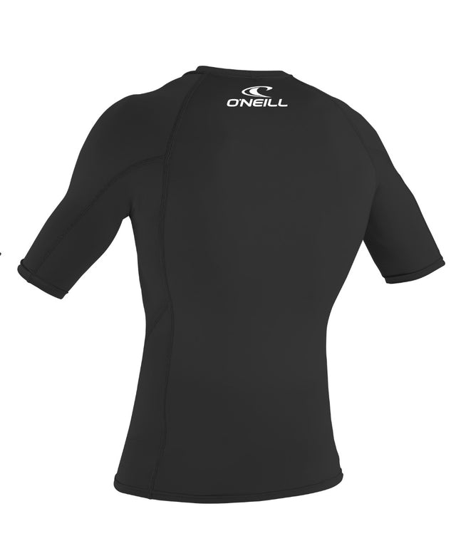 Basic Skins Short Sleeve Rash Vest - Black