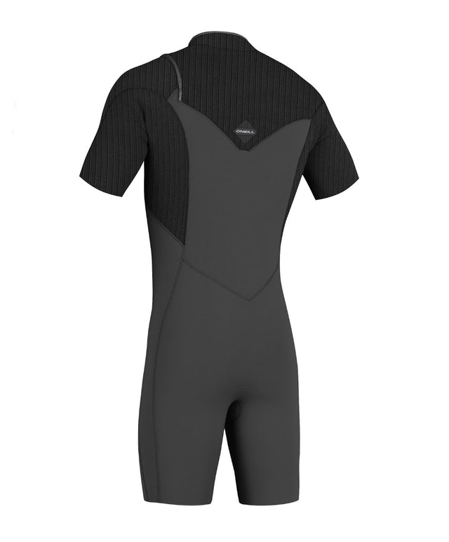 Hyperfreak 2mm Short Sleeve Springsuit Chest Zip Wetsuit - Graphite / Black