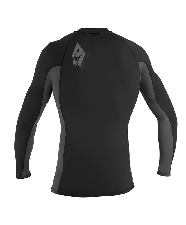 Skins Long Sleeve Rash Vest - Black/Graphite/Black