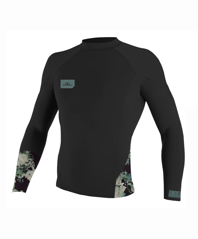 Superfreak L/S Crew 1mm - Blk/Taco/Blk