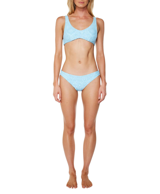 Coast Bikini Top - Aqua Tropical Floral