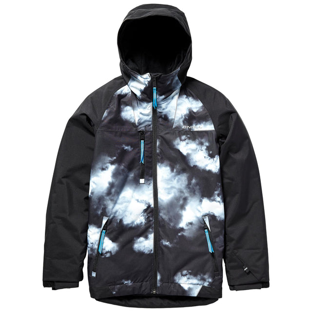 Grid Boys Snow Jacket - Black Out