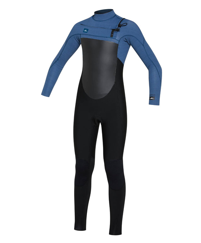 Kids Defender 3/2mm Steamer Chest Zip Wetsuit - Black Art