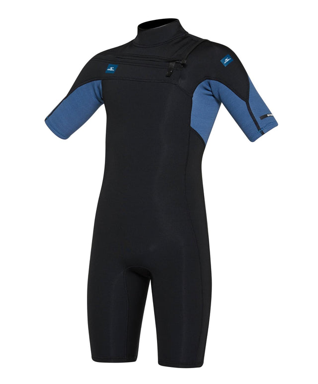 Kids Defender 2mm Spring Suit Chest Zip Wetsuit - Black Art