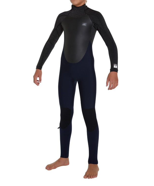 Defender Back Zip 3/2mm Kids Steamer Wetsuit - Abyss