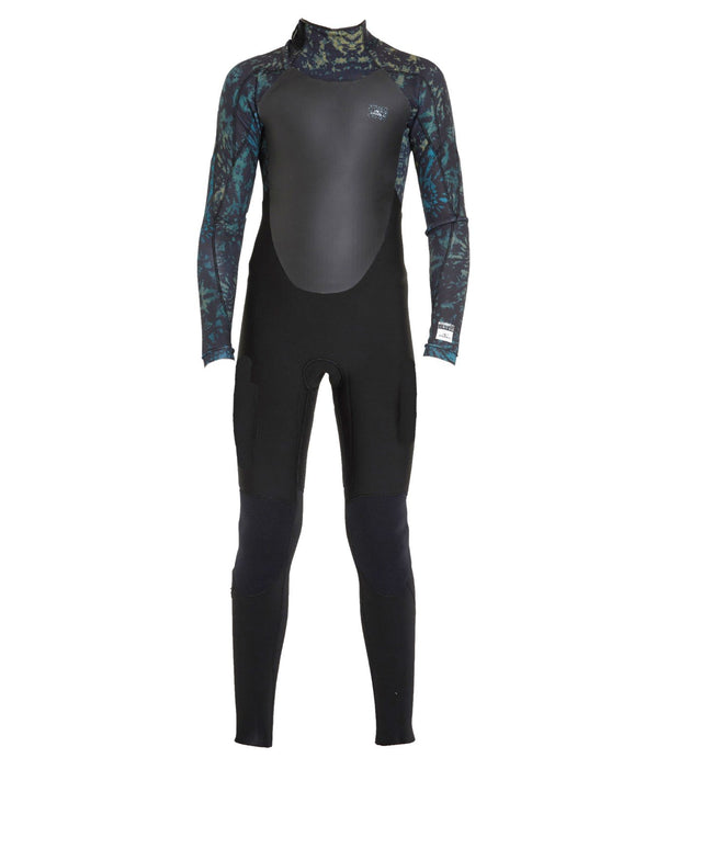 Defender 3/2mm Kids Steamer Back Zip Wetsuit - Black Tie Dye
