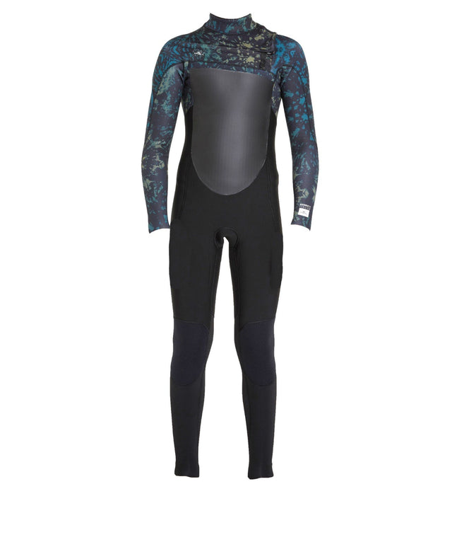 Defender 4/3mm Kids Steamer Chest Zip Wetsuit - Black Tie Dye
