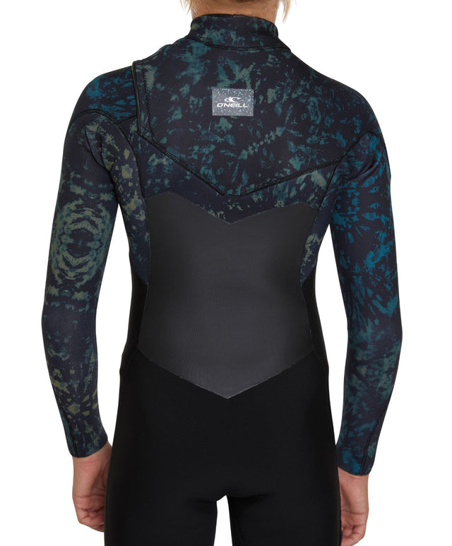 Defender Chest Zip 4/3mm Kids Steamer Wetsuit - Black Tie Dye