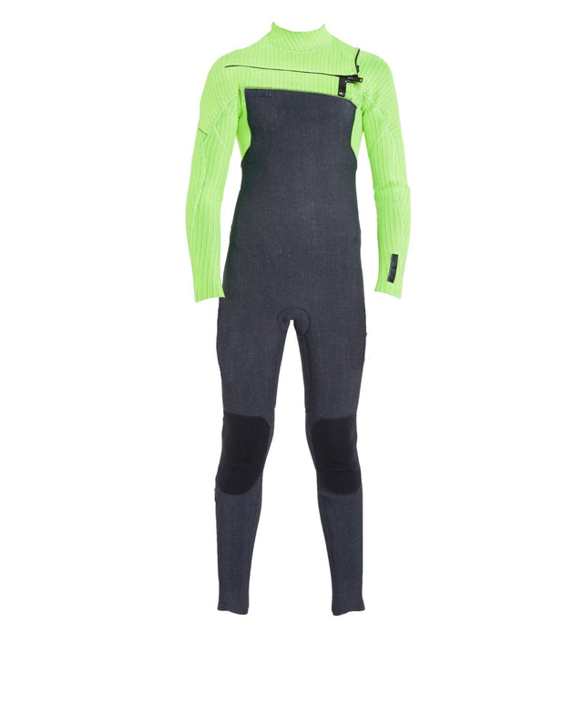 Hyperfreak 4/3+ Youth Steamer Chest Zip Wetsuit - Acid Wash