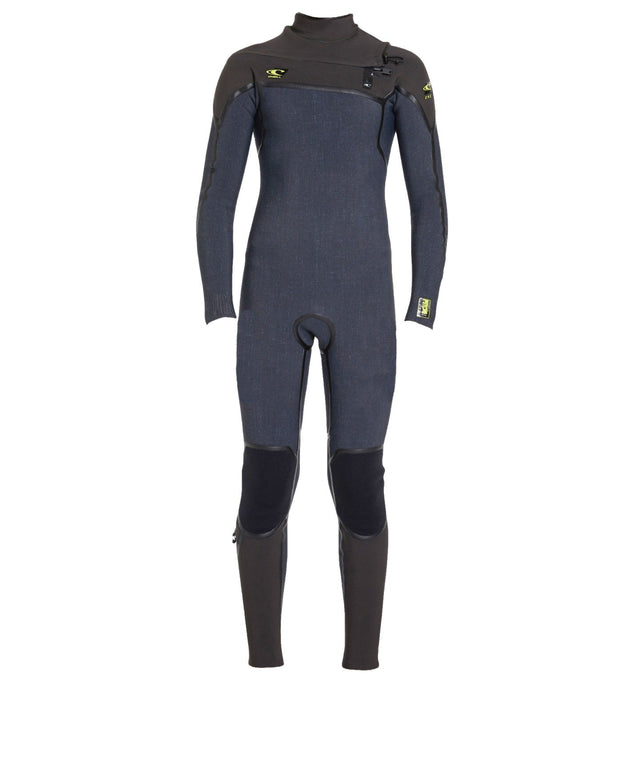 Psycho 1 3/2mm Boys Steamer Chest Zip Wetsuit - Acid Wash