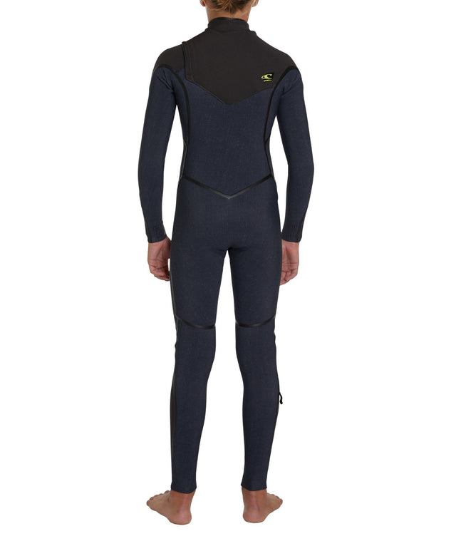 Psycho 1 Chest Zip 3/2mm Boys Steamer Wetsuit - Acid Wash
