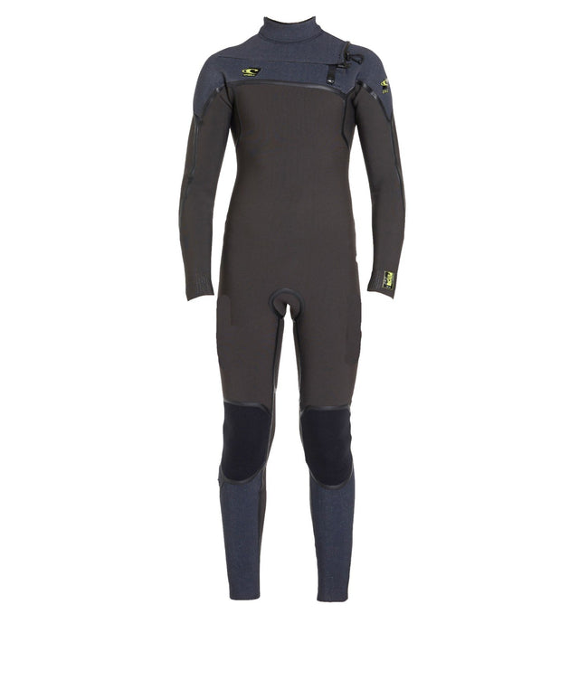 Psycho 1 4/3mm Boys Steamer Chest Zip Wetsuit - Raven