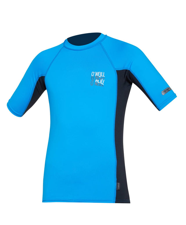 Kids Skins Short Sleeve Rash Vest - Brite Blue