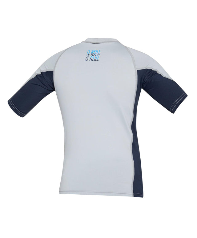Kids Skins Short Sleeve Rash Vest - Cool Grey