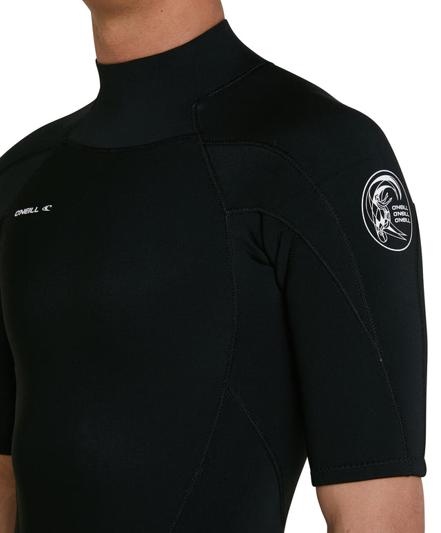 Defender 2mm Short Arm Steamer Back Zip Wetsuit - Black
