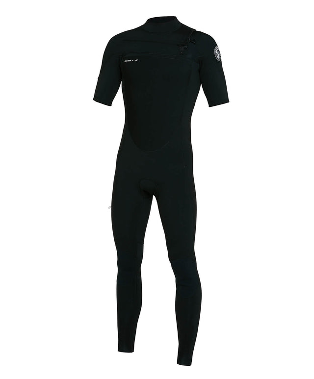 Defender 2mm Short Arm Steamer Chest Zip Wetsuit - Black