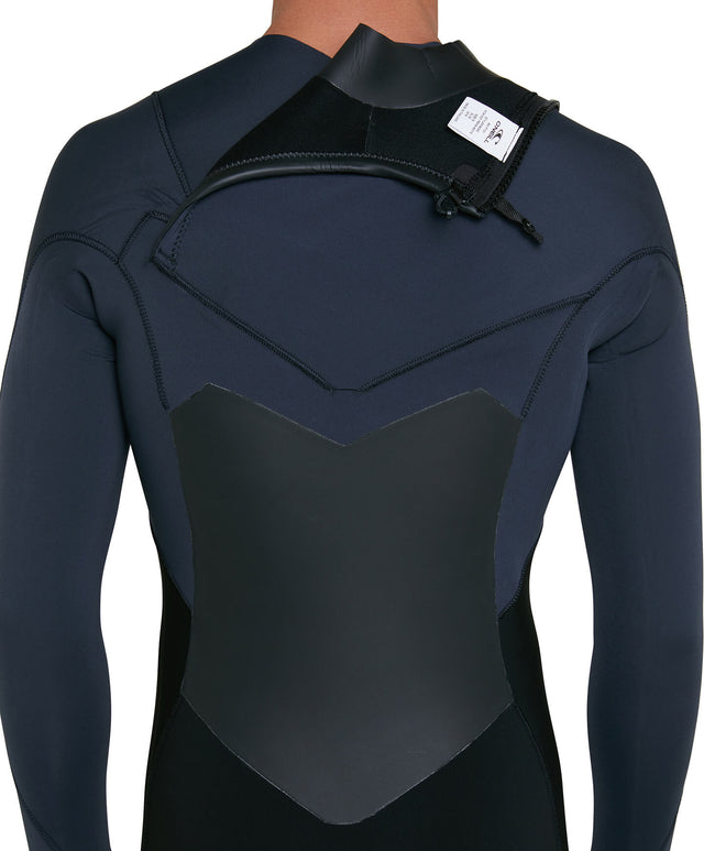 Defender 3/2mm Steamer Chest Zip Wetsuit - Black/Gunmetal