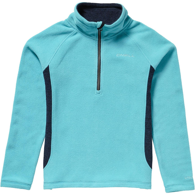 Slope Half Zip Fleece Girls - Island Blue