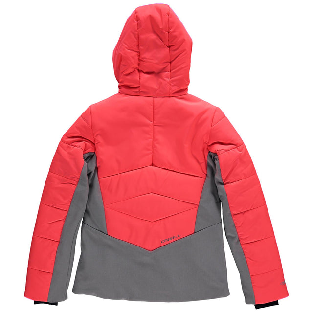 Virtue Girls Snow Jacket - Neon Tangerine Pink